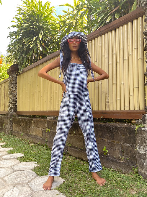 Dolly Dungarees black Gingham