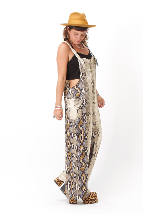 'Lopez' Dungarees In Snake Print