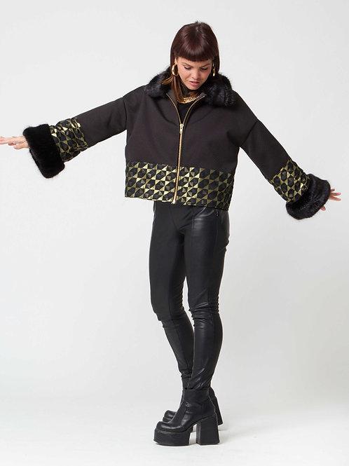 The 'Isla' Gold Metallic Woven Jacket