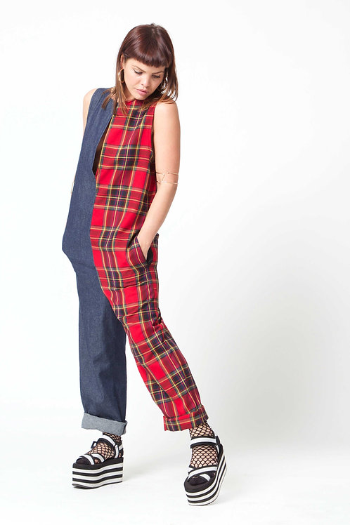 'Water Gypsy' Red Half 'n' Half Jumpsuit
