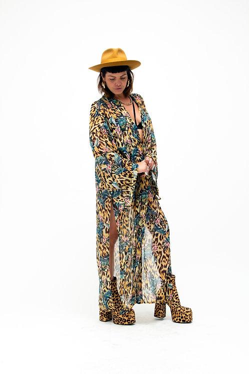 'Gloria' Kimono In Tropicana Print
