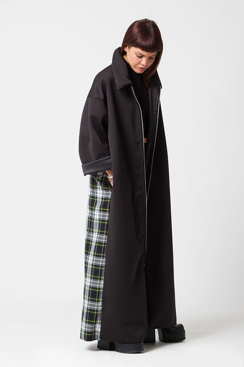 'Water Gypsy' GreenTartan Long Coat