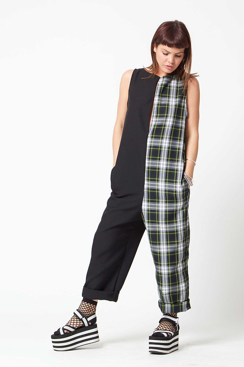 "'Water Gypsy"" Green half 'n' half Jumpsuit"