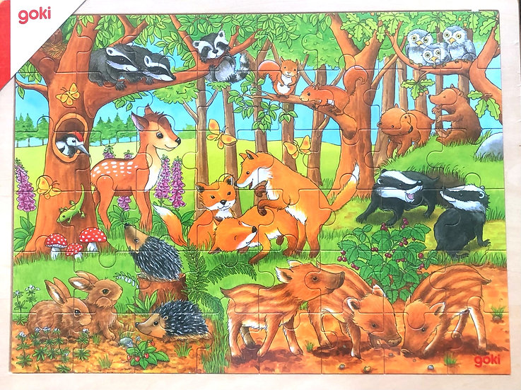 Jigsaw Puzzle: Woodland baby animals