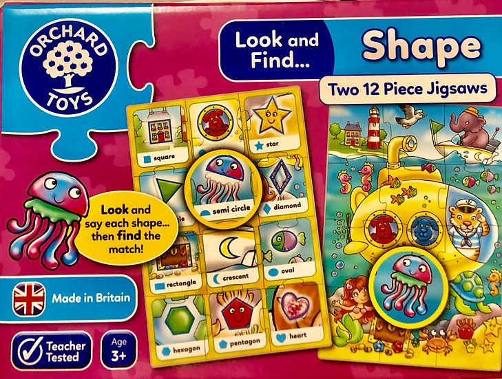 Shape puzzles Age 3+years