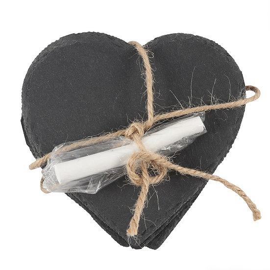 Slate heart coasters
