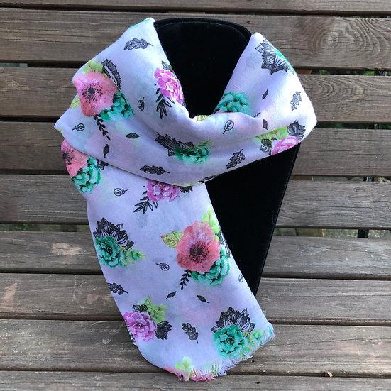 Floral summer scarf 5264