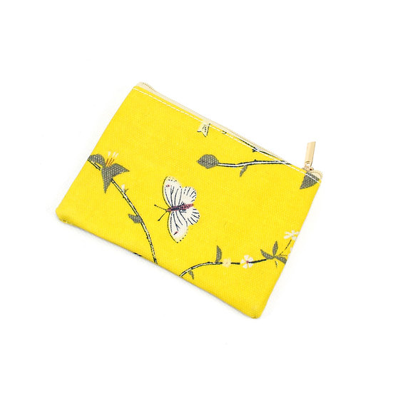 Coin purse - Woodpecker yellow