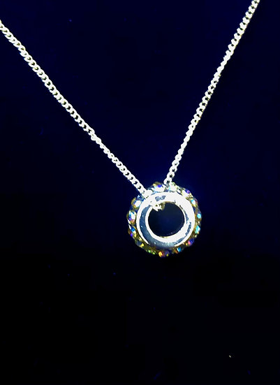Lustrous ring necklace - INEC4043