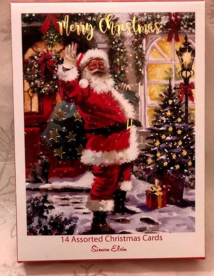 Hello Santa (Simon Elvin) Christmas card
