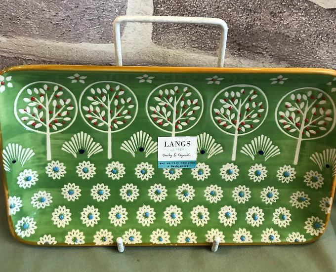 Green Tree Plate
