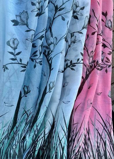 Blossom Tree Summer Scarf - 2559