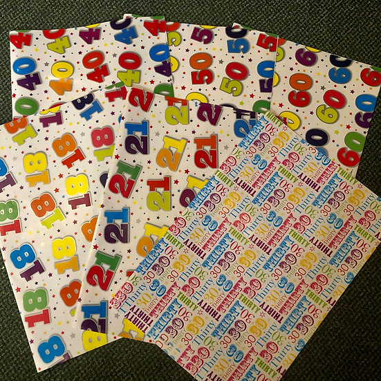 Gift wrap- sheet - age