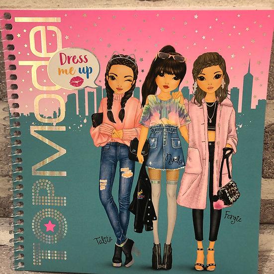 TOP MODEL Dress- up Sticker book