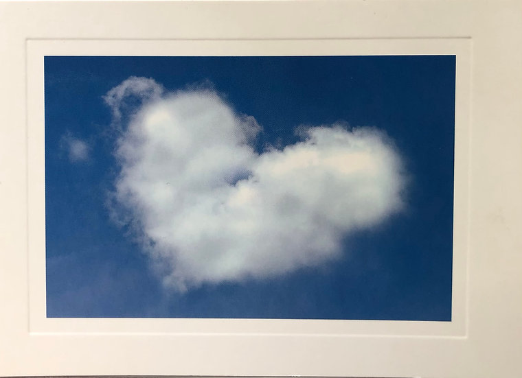 Heart cloud card - Blank