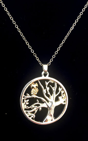 Tree necklace Owl - INEC4066