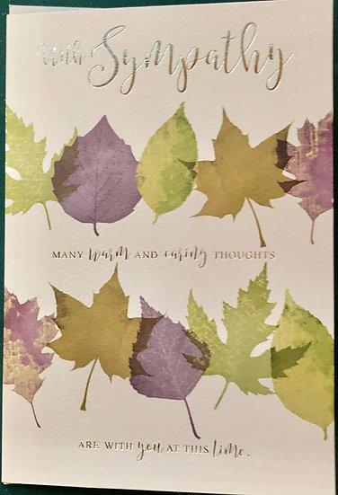 Sympathy Card - Leaves