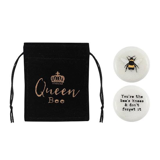Bee stone -Lucky charm