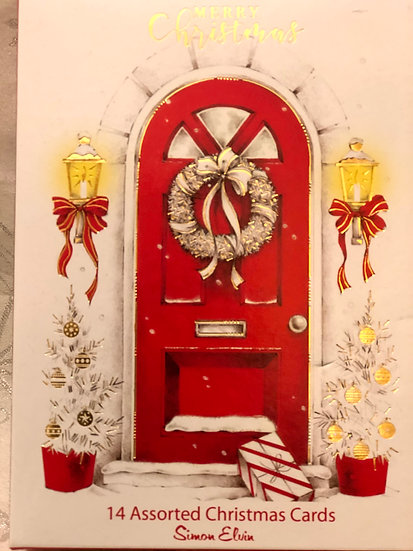 Red door...Simon Elvin Christmas cards.