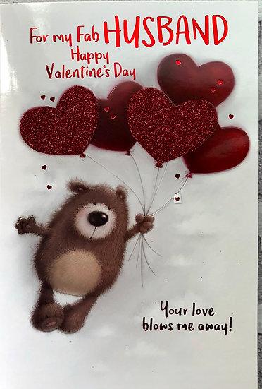 Valentine card - Husband - Cute