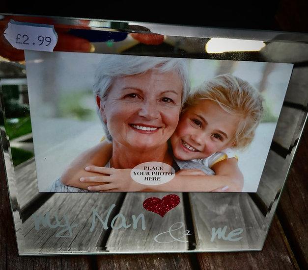 My Nan and Me mirrored frame