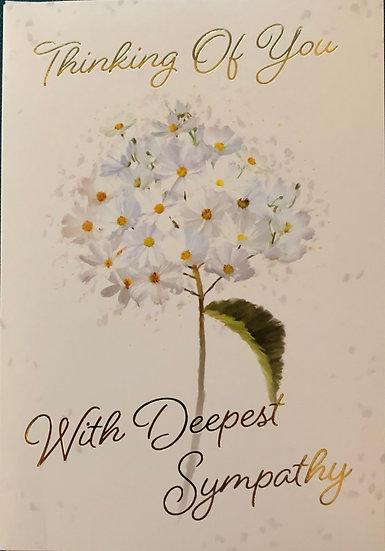 Sympathy Card - White flower