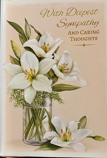 Sympathy Card - Floral- Lily