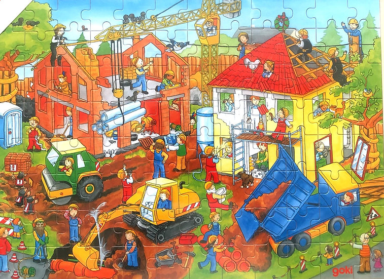 96 pce-Jigsaw puzzle-Building site