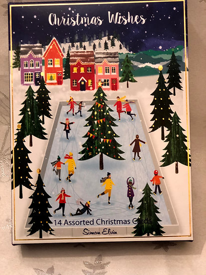 Fun on the ice Simon Elvin Christmas cards