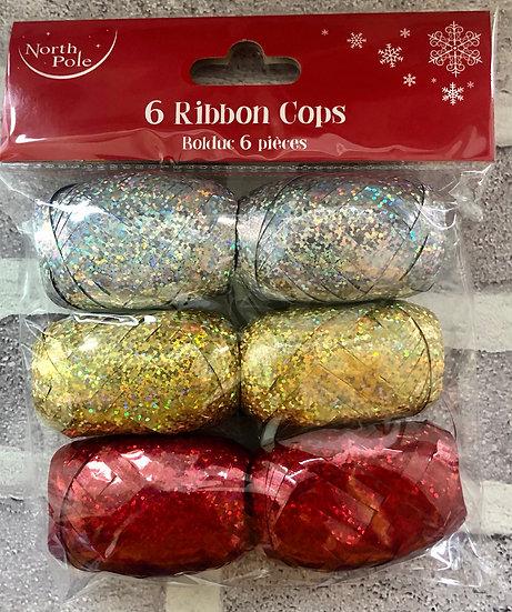 Pack of 6 ribbon cops
