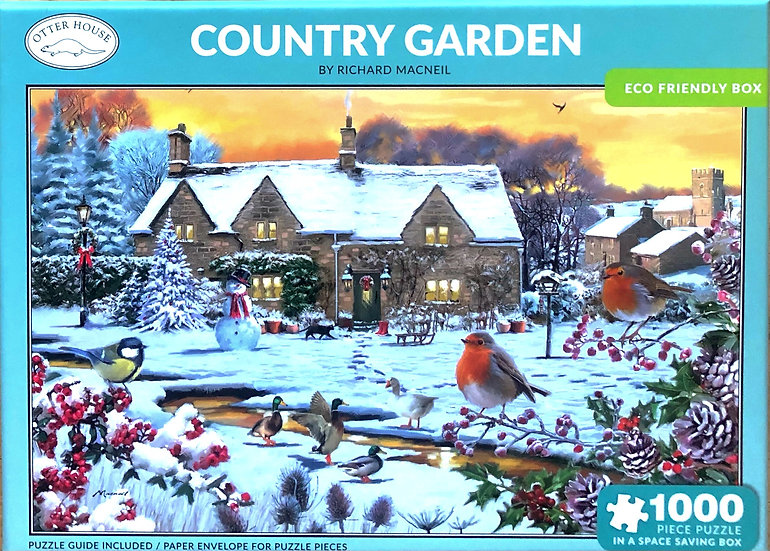 Jigsaw puzzle 1000pce Country garden