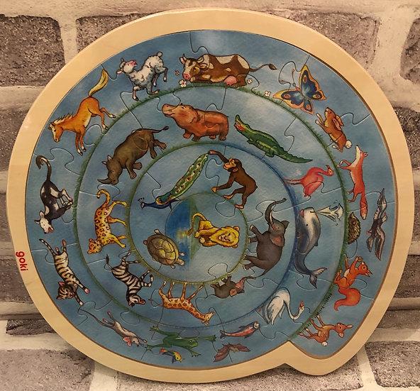Round Animal puzzle 27 piece