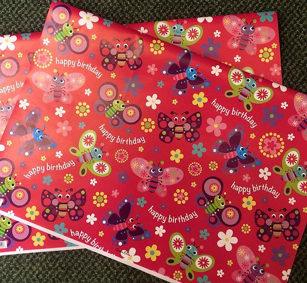 Gift wrap - sheet- Girl
