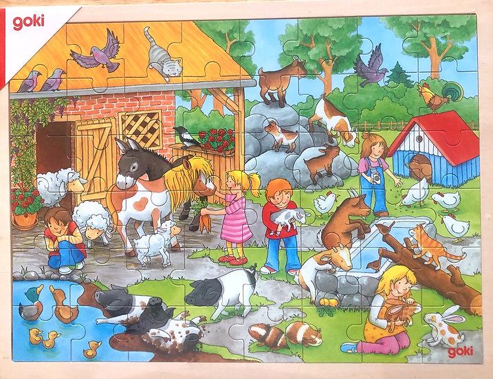Jigsaw puzzle Petting zoo