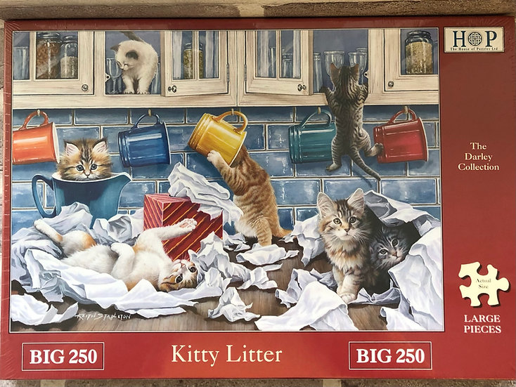 H O P ..Jigsaw puzzle....BIG 250..KITTY LITTER