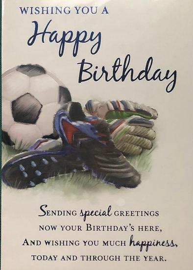 Male birthday card - Football