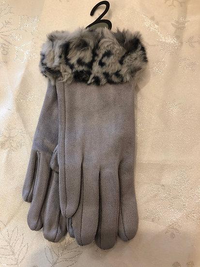 Gloves Faux fur trim