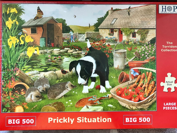 H O P Jigsaw puzzle...BIG500 piece....Prickly situation