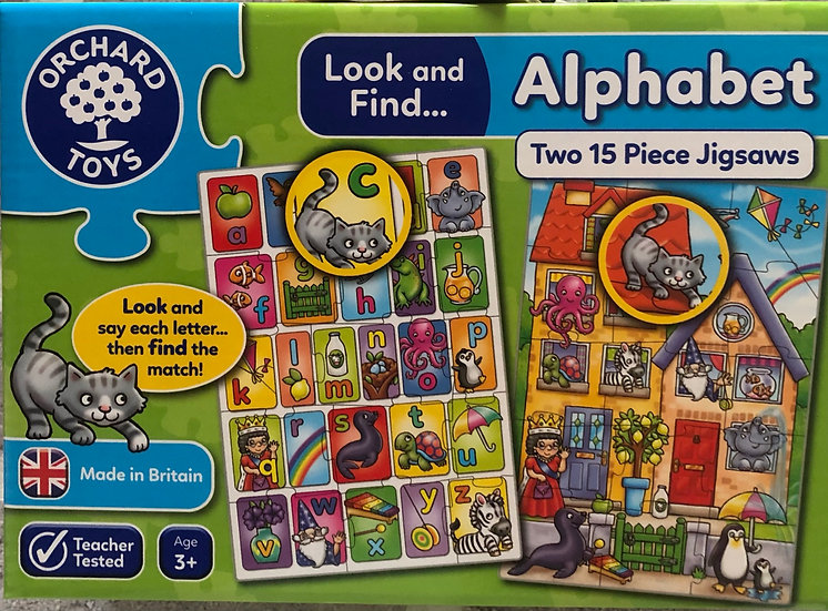 Alphabet puzzles age 3+ years
