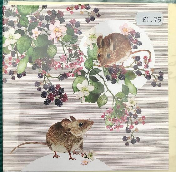 Card - Mice- Blank inside
