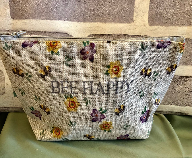 Bee Happy make-up bag