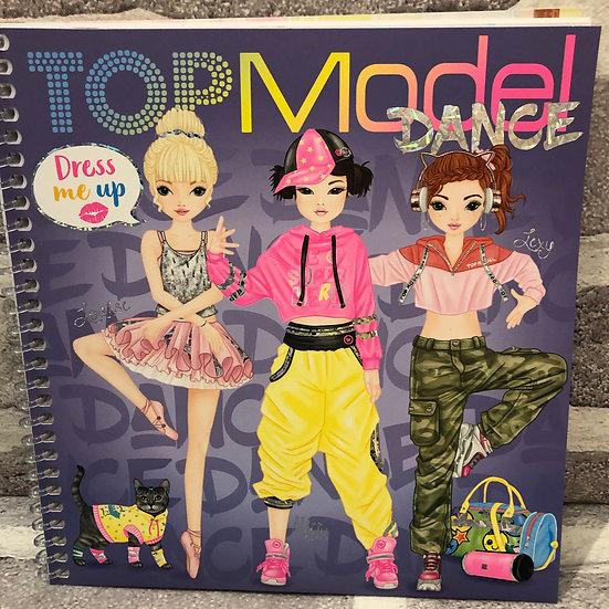 TOP MODEL Dance sticker book