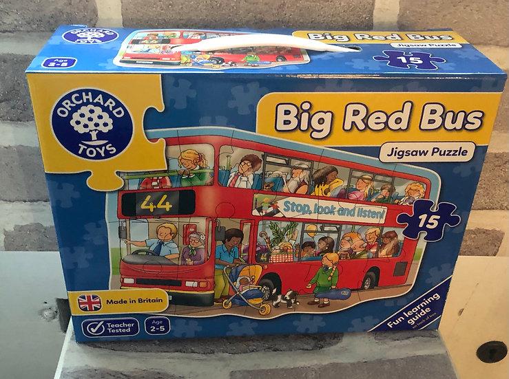 Floor puzzle Big red bus