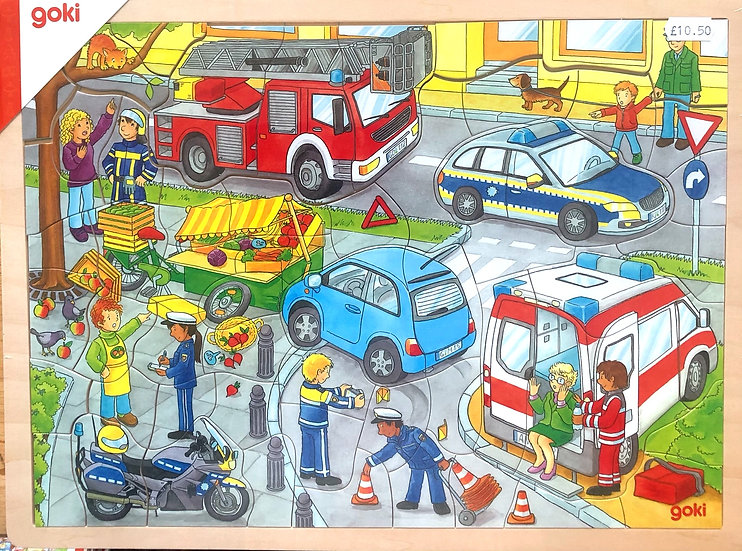 Jigsaw puzzle. Police