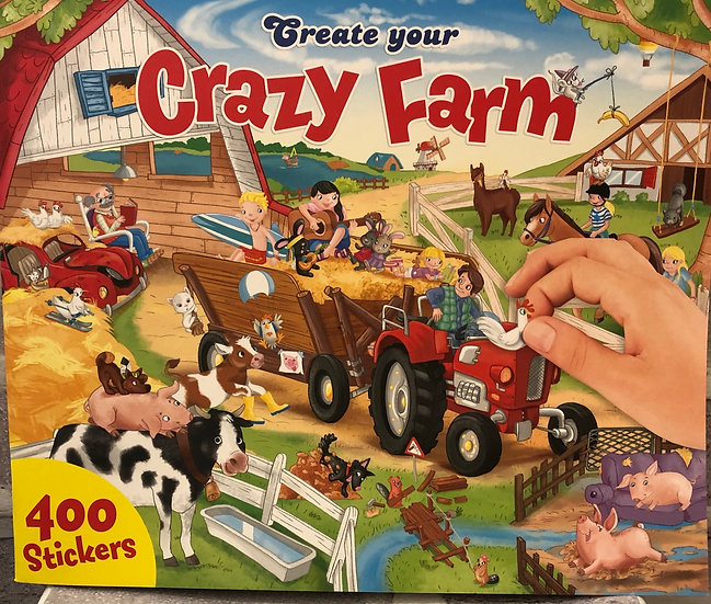 CRAZY FARM sticker book