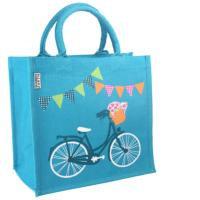 Jute Shopping Bag   Bicycle
