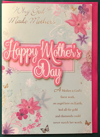 Why God Made Mothers- Mothers Day Card
