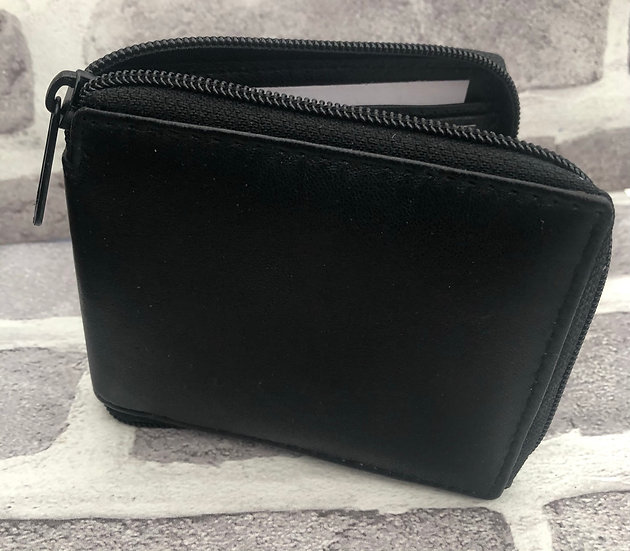 Leather wallet Full zip 1184