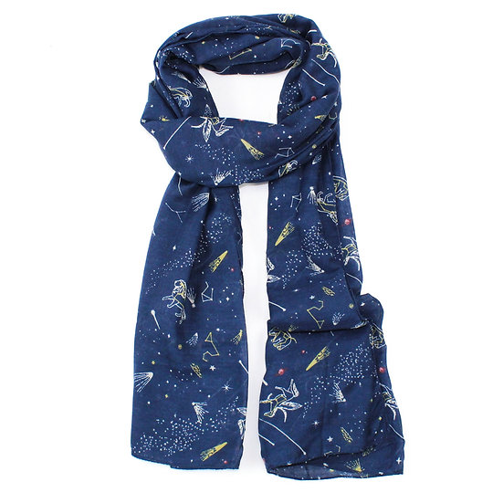 Summer scarf - zodiac - Navy - RH3004 C90