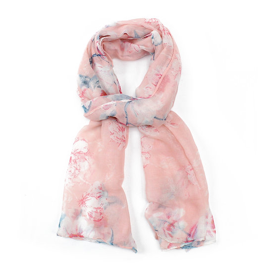 Summer scarf - Pink floral - XS4310 C07